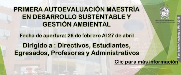 AUTOEVALUACIÓN MAESTRÍA EN DESARROLLO SUSTENTABLE Y GESTIÓN AMBIENTAL